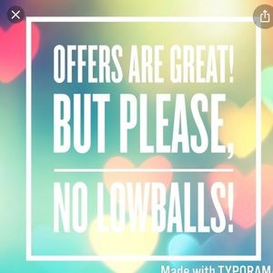 No low ball offers please :)